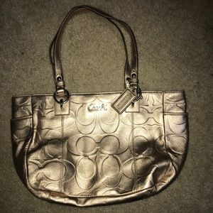 Coach Purse-Gold